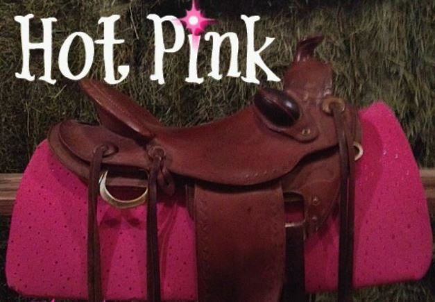 SS HOTPK - Show Skinz Hot Pink Sequin Saddle Pad Cover