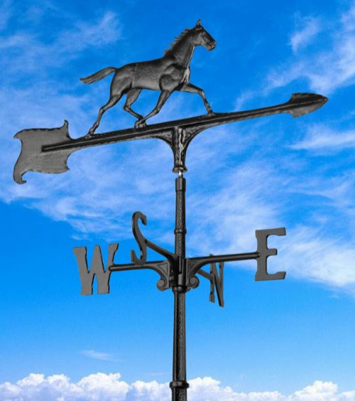 WH HRS 0008 - 30 Black Horse Accent Weathervane