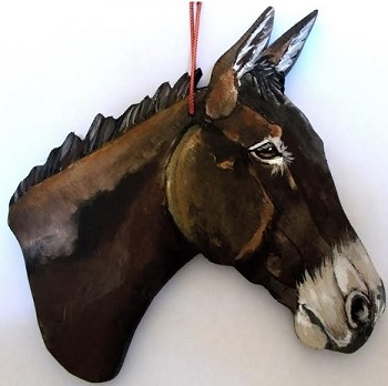 KK MULE ORN - Custom Painted Mule Ornament
