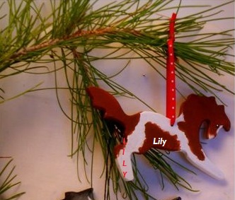 KK ORN - Whimsical Custom Painted Ornament - HORSE - MULE - DONKEY