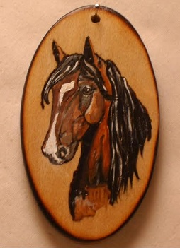 KK KEY - Oval Key Painted with YOUR Horse