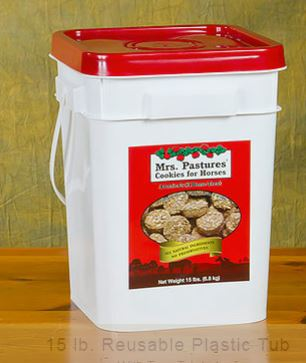 15lb BKT - Mrs. Pastures Cookies for Horses - 15 lbs. BUCKET