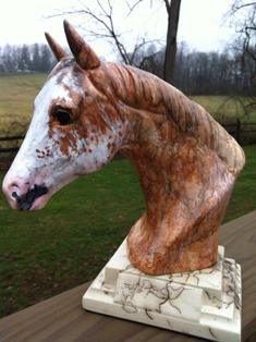 DD APP C - Custom Horsehair Pottery - YOUR Appaloosa in Color
