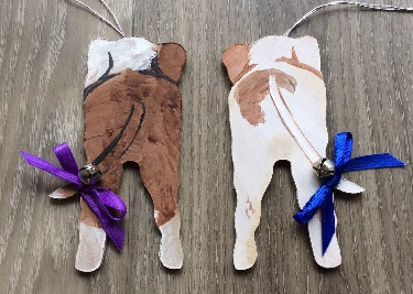 RL ORN Dog - Personalized Doggie Bum Ornaments/Set of 2