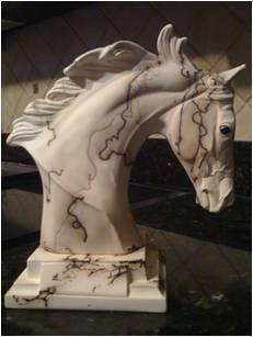 DD TBH4 - Custom Horsehair Pottery - THOROUGHBRED