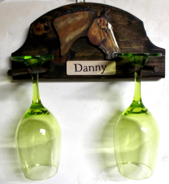 KK WINE GLASS HLDR - Custom Painted Wine Glass Holder