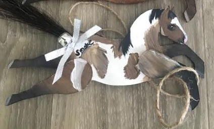 RL RH - Custom Running Horse Ornament