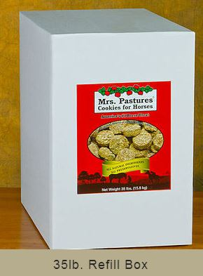 35LB INCLUDES SHIPPING - Mrs. Pastures Cookies for Horses - 35 lbs.