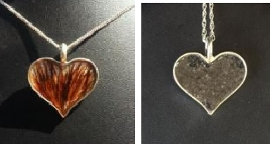 DD RP3 - Heart Pendant made with YOUR Horse's Hair or Ashes