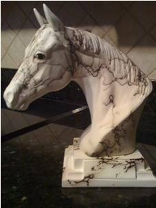 Horsehair Pottery Quarter Horse